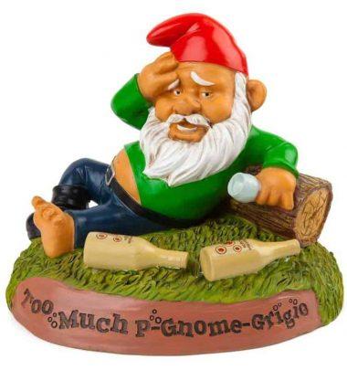 a drunk garden gnome