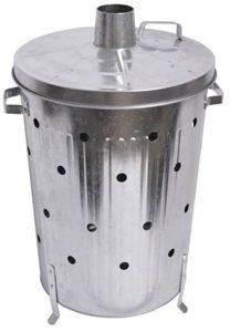 90L garden incinerator bin