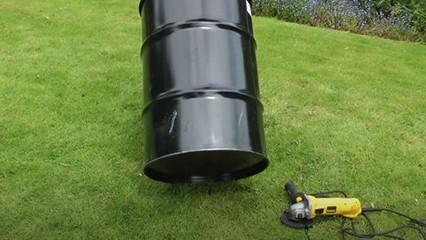 empty oil barrel garden waste burner