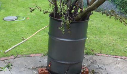 diy garden incinerator
