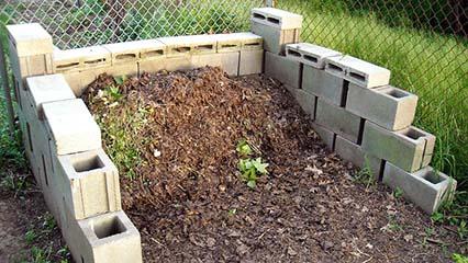 Concrete Block Compost Bin