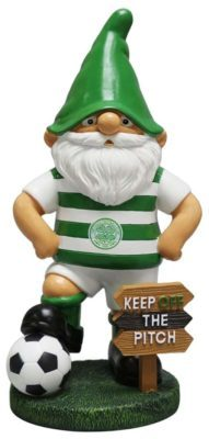 a celtic gnome with a sign keep of the pitch