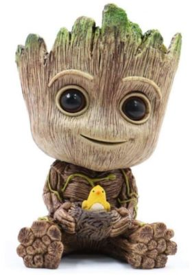 Baby Groot Plant Pot with Groot holding a nest