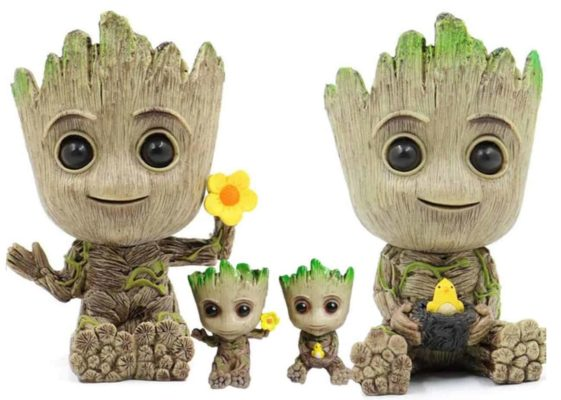 Baby Groot Flower Pot x4 2 Large and 2 Small