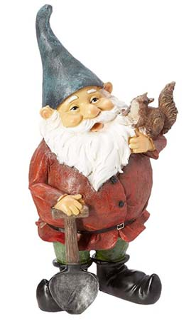 a 42cm large garden gnome