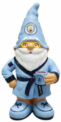 man city gnome in a dressing gown