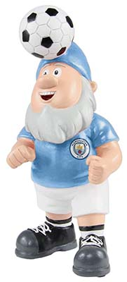 Manchester City Gnome Heading a Ball