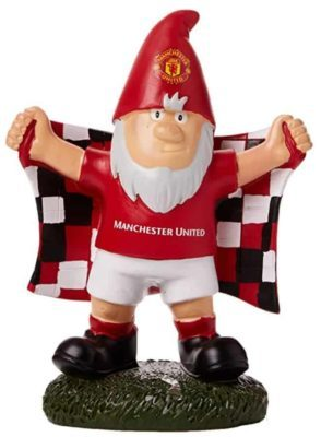 Man United Gnome holding flag