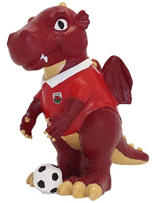 Welsh Dragon Football Gnome