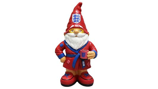 England football gnome in dressing gown